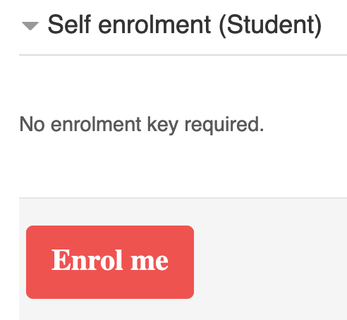 Enrol me button